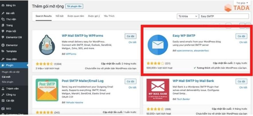 Hướng dẫn cài đặt Easy SMTP